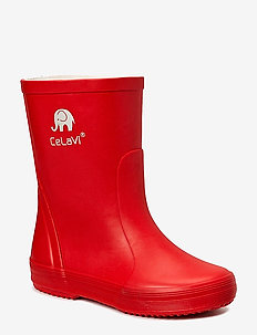 Basic wellies -solid - rubberboots - red