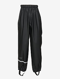 Rainwear pants, solid - bukser - black