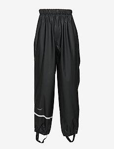 Rainwear pants, solid - hosen - black