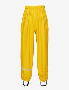 Rainwear pants, solid - housut - yellow