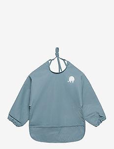Basic PU-apron LS - Śliniaczek - smoke blue