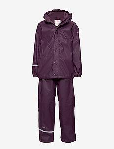 Rainwear -solid w.fleece - BLACKBERRY WINE