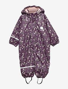 Rainwear suit -AOP w.fleece - zestawy - blackberry wine