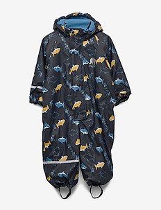 Rainwear suit -AOP w.fleece - sets & suits - navy