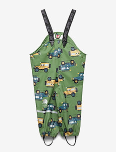 Rainwear Overall - AOP - pantalons - elm green