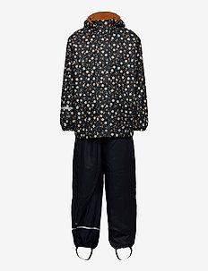 Rainwear Set  -AOP, w. fleece - sets & suits - navy