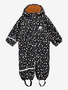 Rainwear Suit  -AOP, w. fleece - sett & regndresser - navy