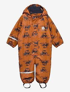 Rainwear Suit  -AOP, w. fleece - ensembles - pumpkin spice