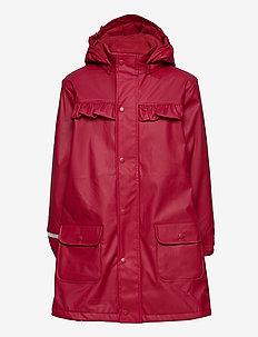 Raincoat  - w. fleece - jakker - rio red