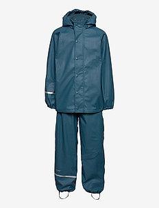 Rainwear Set  Solid, w. fleece - sets & suits - ice blue