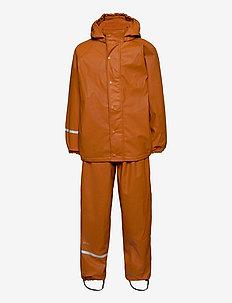 Rainwear Set  Solid, w. fleece - sets & suits - pumpkin spice