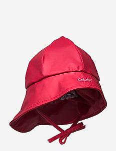 PU Hat - Solid w. fleece - chapeau de soleil - rio red