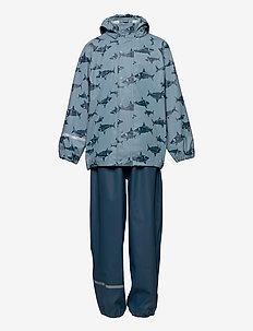 Rainwear Set - AOP - badeanzüge - smoke blue