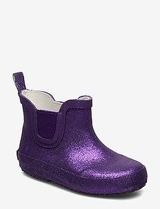 Wellies Short w. glitter - ROYAL PURPLE GLITHER