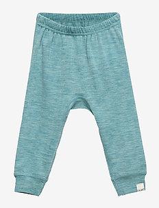 Harem Pants, Solid, Melange Wonder wollies - LULWORTH BLUE