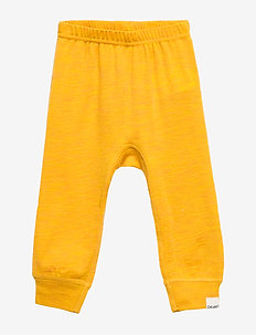 Harem Pants, Solid, Melange Wonder wollies - trousers - mineral yellow