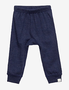 Harem Pants, Solid, Melange Wonder wollies - NAVY