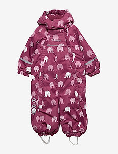 Snowsuit -elephant w 2 zippers - MAROON
