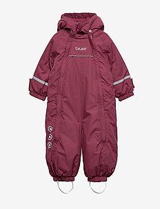 Snowsuit - Solid w 2 zippers - MAROON