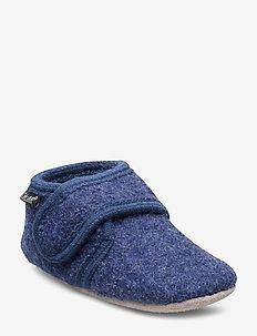 Baby uld sko - BLUE MELANGE