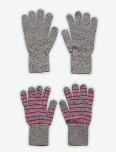 Magic finger gloves (2-pack) - wool - grey