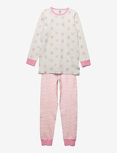 Pyjamas w. AOP  ON HANGER - zestawy - marshmallow white