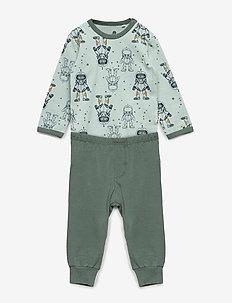 Baby Pyjamas Set - AOP - sets - balsam green