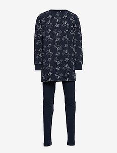 Pyjamas w. AOP - DRESS BLUES
