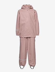 Basic rainwear set -Recycle PU - sets & suits - misty rose