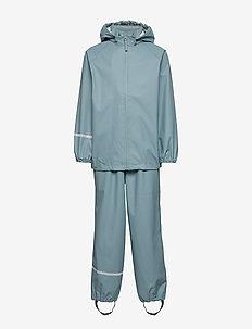 Basic rainwear set -Recycle PU - sets & suits - smoke blue