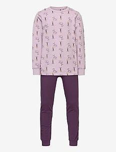 Pyjamas w. AOP - sets - iris