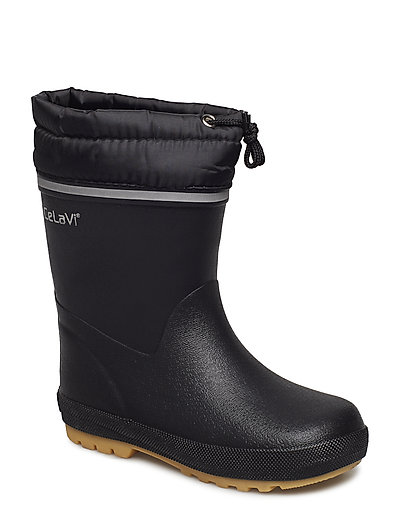 Thermal wellies w.lining-solid - BLACK