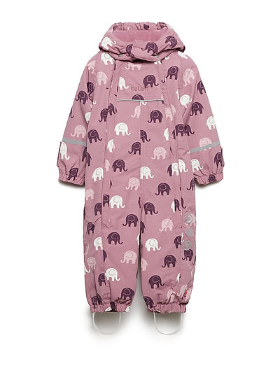 Snowsuit -elephant w 2 zippers - DUSKY  ORCHID