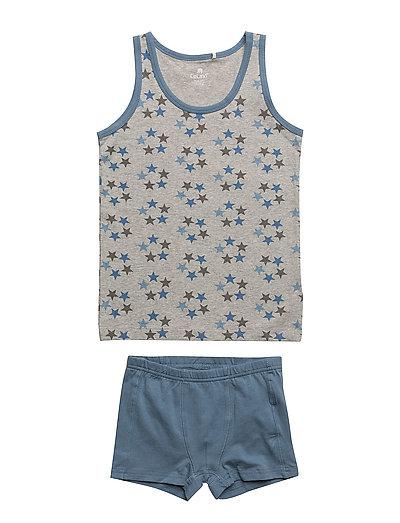 Underwear set w.boy print - CAPTAIN'S BLUE