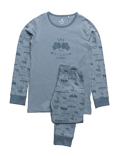 Pyjamas w. AOP - FADED DENIM