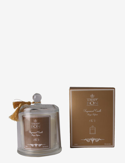 Scented candle in a glas dome w tassel fragrance No.4 - fragrance diffusers - amber