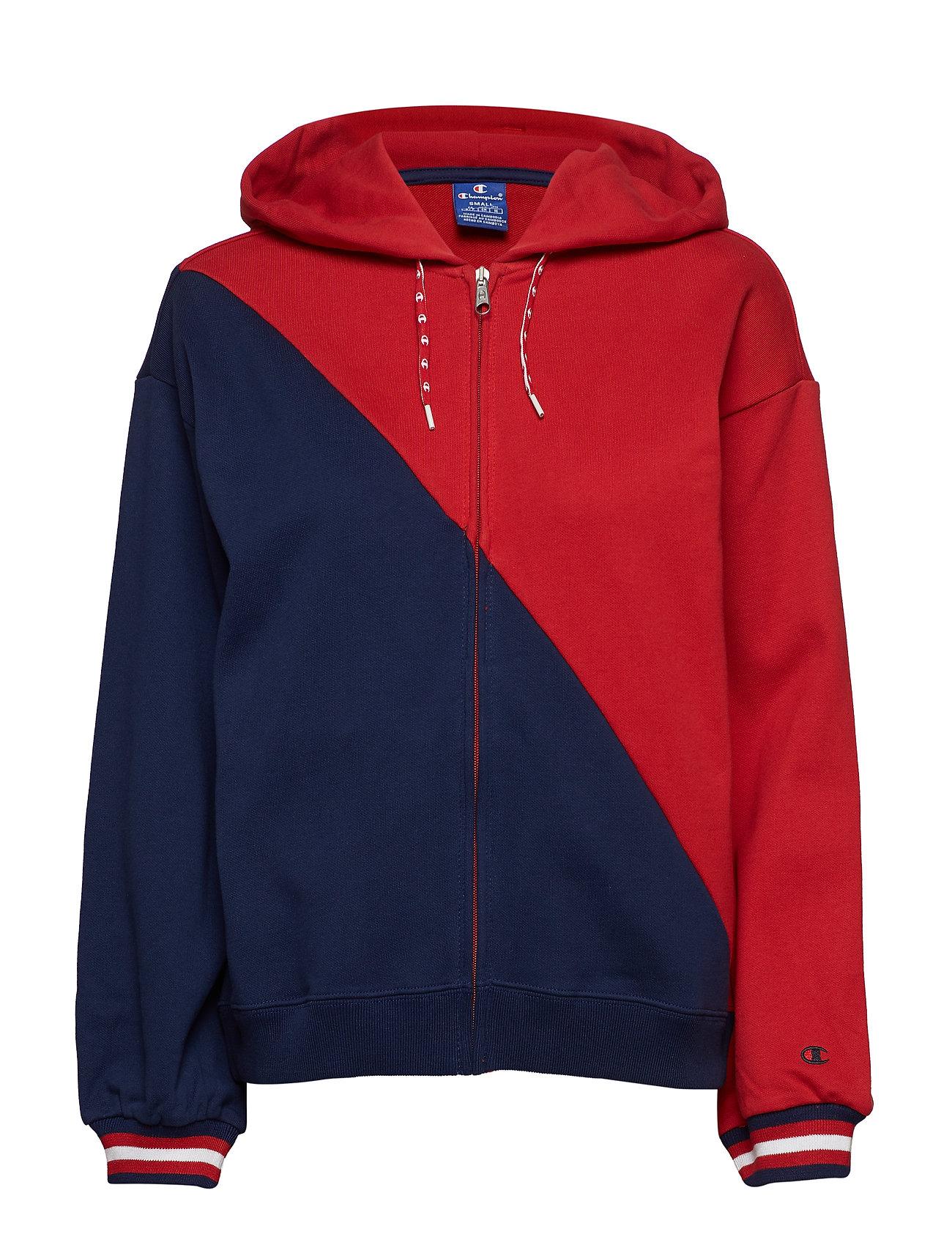 Champion Rochester Hooded Full Zip Sweatshirt - RED