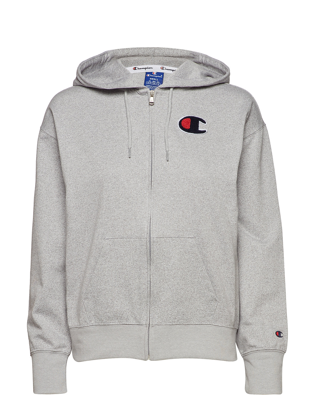 Champion Rochester Hooded Full Zip Sweatshirt - GREY