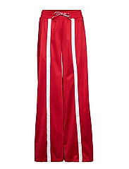 Straight Hem Pants - RED