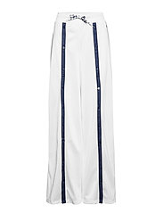 Straight Hem Pants - WHITE