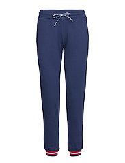 Rib Cuff Pants - DARK BLUE