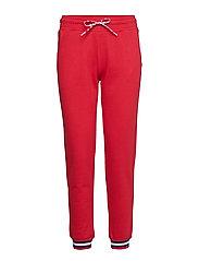 Rib Cuff Pants - RED