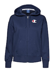 Hooded Full Zip Sweatshirt - DARK BLUE