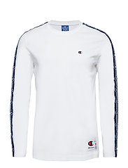 Champion Athleisure Taped Long Sleeve Tee - WHT