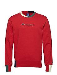 Crewneck Sweatshirt - MULTI COLOUR STRIPE