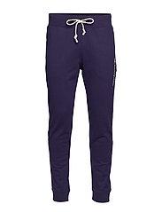 Rib Cuff Pants - BLUE