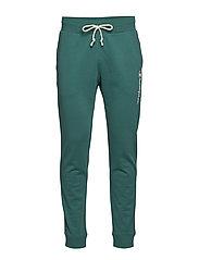 Rib Cuff Pants - DARK GREEN