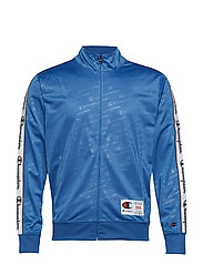 Full Zip Sweatshirt - BLUE ALL OVER