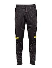 Rib Cuff Pants - BLACK