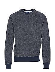 Crewneck Sweatshirt - NAVY AND WHITE